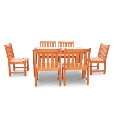 Monterry Classic 7 Piece Wood Dining Set