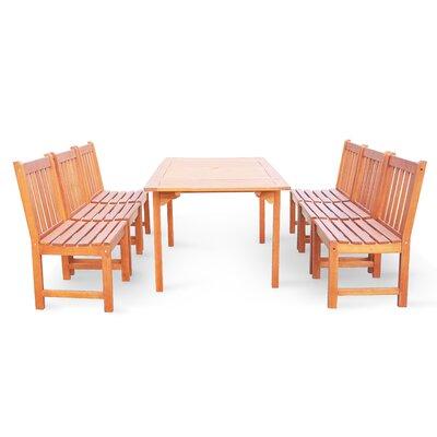 Bucksport 7 Piece Dining Set Table Size: 82