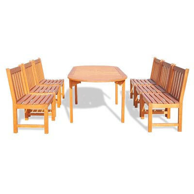 Bucksport 7 Piece Dining Set Table Size: 82