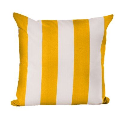 Merrill Outdoor Throw Pillow Color: Yellow/Stark White