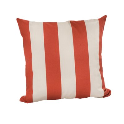 Limestone Outdoor Throw Pillow Color: Orange