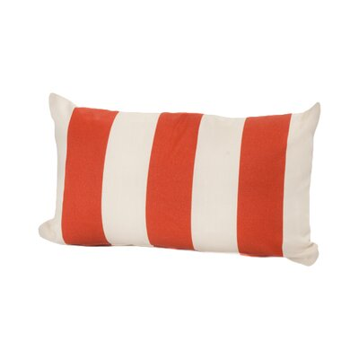 Merrill Outdoor Lumbar Pillow Color: Orange/Cream