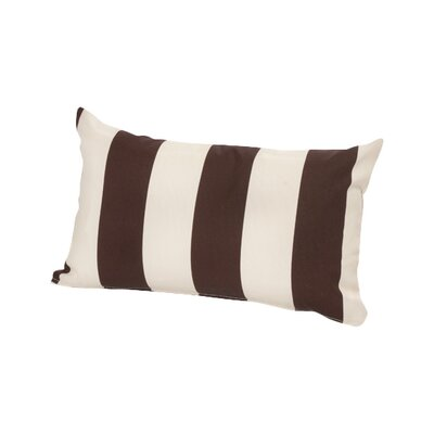 Merrill Outdoor Lumbar Pillow Color: Brown/Off-White