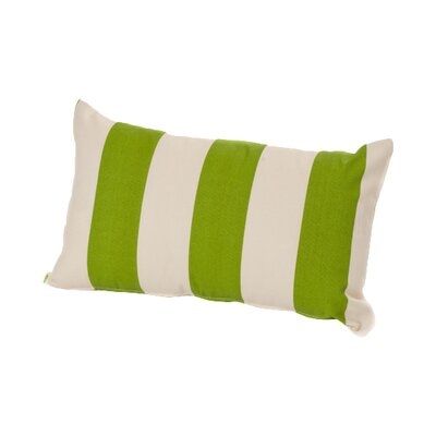 Merrill Outdoor Lumbar Pillow Color: Sage/Off-White
