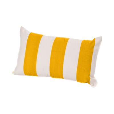 Merrill Outdoor Lumbar Pillow Color: Yellow/Off-White