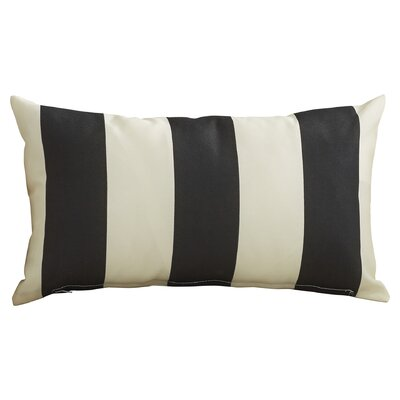 Merrill Outdoor Lumbar Pillow Color: Navy/Off-White
