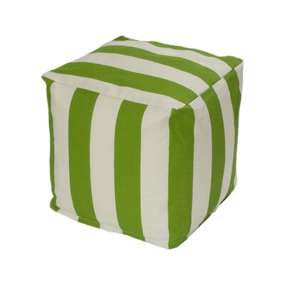Merrill Bean Bag Cube Ottoman Upholstery: Sage/Off-White