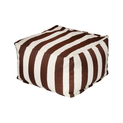 Merrill Pouf Upholstery: Brown/Off-White