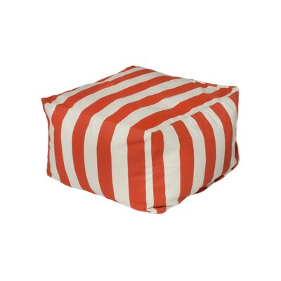 Limestone Bean Bag Ottoman Upholstery: Orange/Off-White BRWT4268 30365309