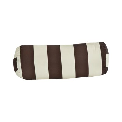 Limestone Outdoor Bolster Pillow Color: Brown/Off-White