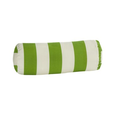 Merrill Outdoor Bolster Pillow Color: Sage/Off-White