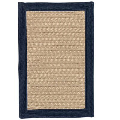 Dartmouth Hand-Woven Navy Indoor/Outdoor Area Rug Rug Size: 5 x 7