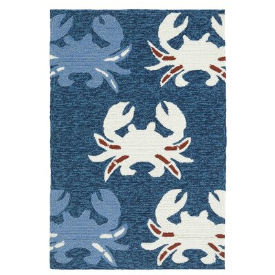 Sereno Handmade Navy Indoor / Outdoor Area Rug Rug Size: Rectangle 2 x 3