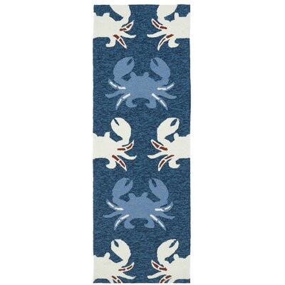 Sereno Handmade Navy Indoor / Outdoor Area Rug Rug Size: Runner 2 x 6