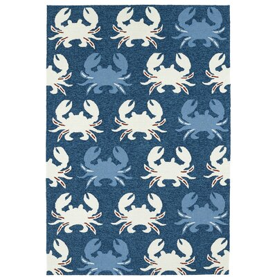 Sereno Handmade Navy Indoor / Outdoor Area Rug Rug Size: 3 x 5