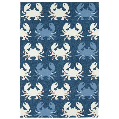 Sereno Handmade Navy Indoor / Outdoor Area Rug Rug Size: Rectangle 76 x 9