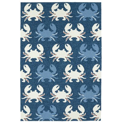 Sereno Handmade Navy Indoor / Outdoor Area Rug Rug Size: 9 x 12