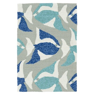 Sereno Traditional Handmade Rectangle Blue Indoor / Outdoor Area Rug Rug Size: Rectangle 2 x 3