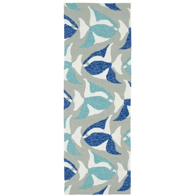 Sereno Traditional Handmade Rectangle Blue Indoor / Outdoor Area Rug Rug Size: Runner 2 x 6
