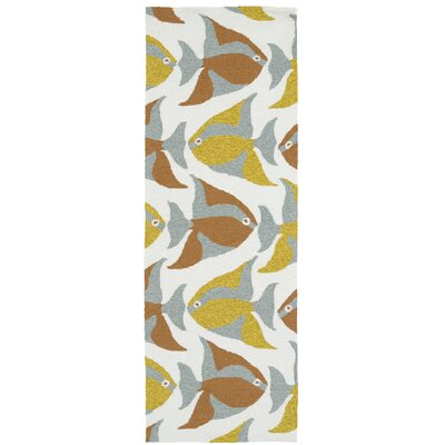 Sereno Handmade Abstract Indoor / Outdoor Area Rug Rug Size: Runner 2' x 6'