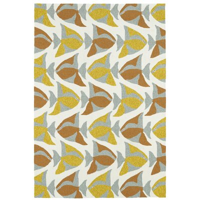 Sereno Handmade Abstract Indoor / Outdoor Area Rug Rug Size: 3 x 5