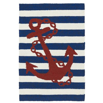 Sereno Handmade Blue Indoor / Outdoor Area Rug Rug Size: 2 x 3