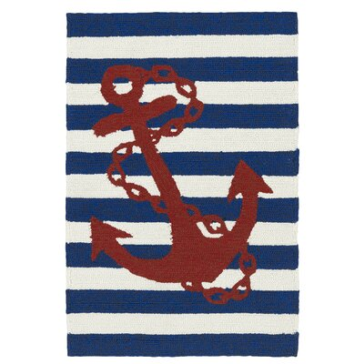 Sereno Handmade Blue Indoor / Outdoor Area Rug Rug Size: 3' x 5'