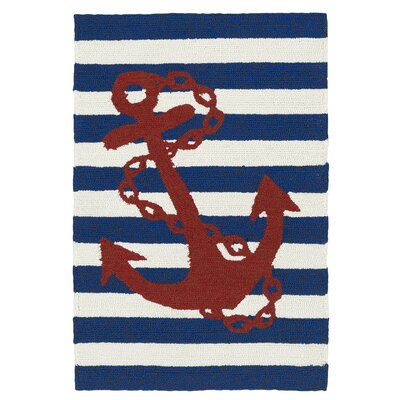 Sereno Handmade Blue Indoor / Outdoor Area Rug Rug Size: 9' x 12'