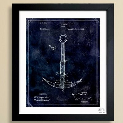 Anchor 1887 Framed Graphic Art Size: 32 H x 26 W x 1.5 D