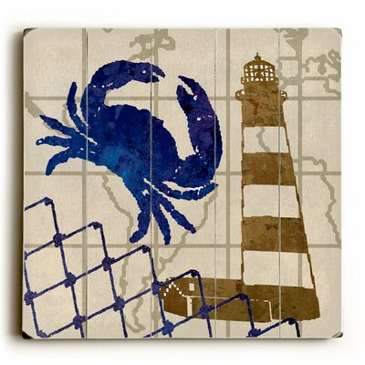 Crab and Lighthouse Graphic Art