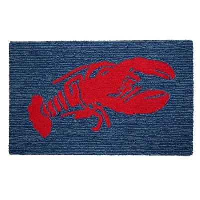 Arcadia Hand-Woven Blue/Red Area Rug
