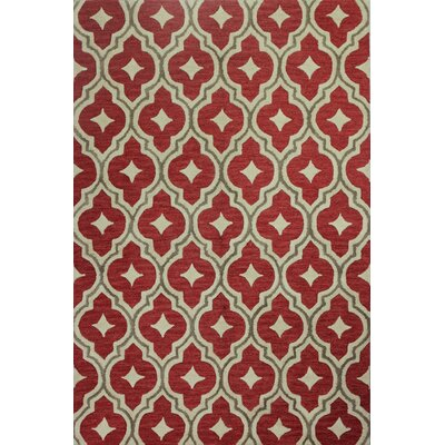 Everglades Hand-Tufted Coral Area Rug Rug Size: 5 x 76