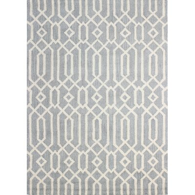 Sharpsburg Hand-Tufted Grey Area Rug Rug Size: 5' x 7'