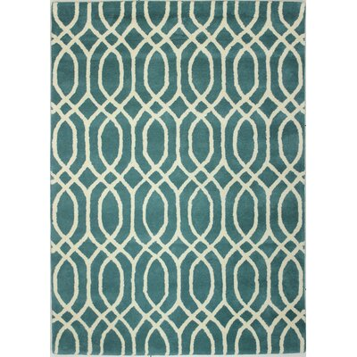 Luther Hand-Tufted Turquoise Area Rug Rug Size: 76 x 96