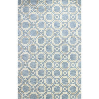 Eloy Hand-Tufted Light Blue Area Rug Rug Size: 79 x 99