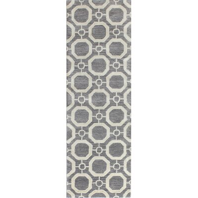 Eloy Hand-Tufted Grey Area Rug Rug Size: Runner 26 x 8