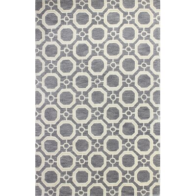 Mirabal Hand-Tufted Grey Area Rug Rug Size: 56 x 86