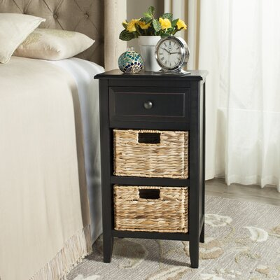 Small Point End Table Finish: Distressed Black