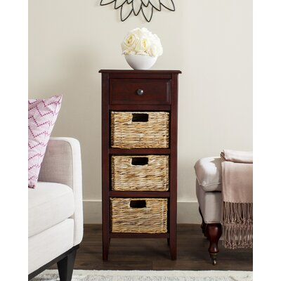Darwin End Table With Storage Color: Distressed Black