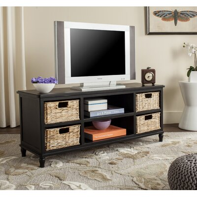 Spruce Head TV Stand Finish: Distressed Black