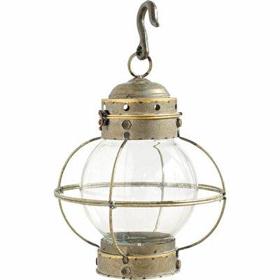 Glass Lantern Size: 18 H x 12 W x 12 D