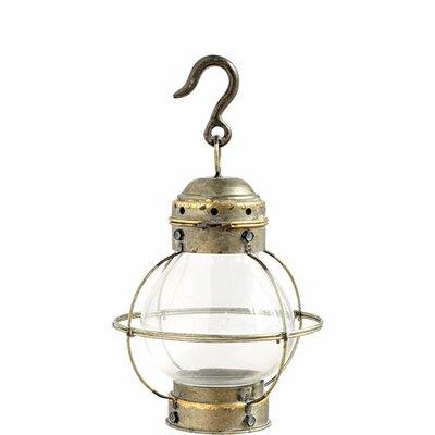 Glass Lantern Size: 16 H x 10 W x 10 D