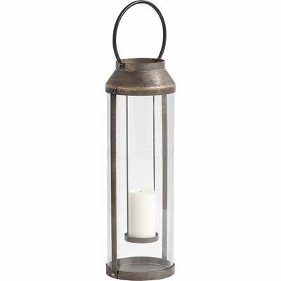 Glass Lantern Size: 29 H x 9 W x 8 D