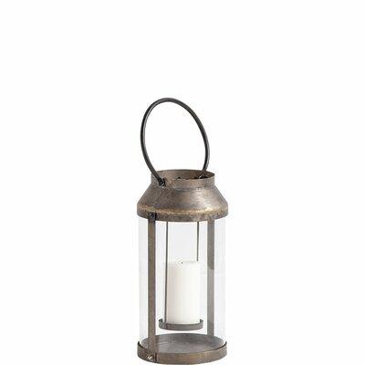 Glass Lantern Size: 21 H x 9 W x 8 D
