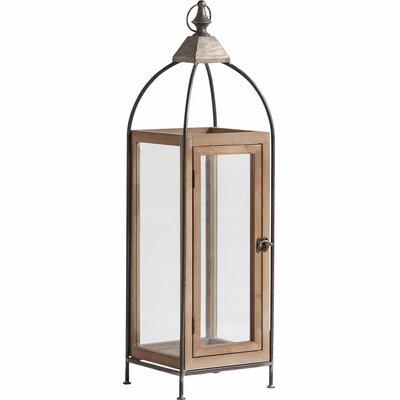 Metal Lantern Size: 28 H x 10 W x 9 D