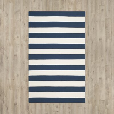 Wallingford Hand-Woven Navy/Ivory Area Rug Rug Size: 12' x 15'