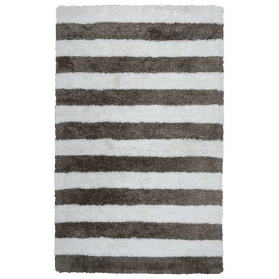 Dublin Hand-Tufted Ivory/Gray Indoor/Outdoor Area Rug Size: 3'6