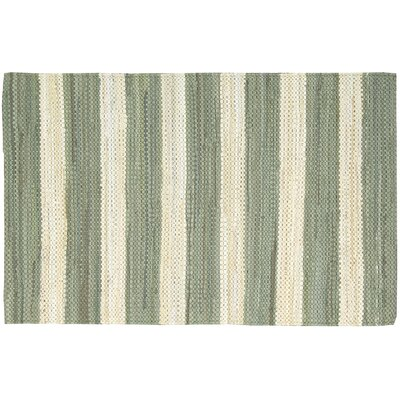 Mayfair Stripe Green/Cream Area Rug Rug Size: 2 x 3