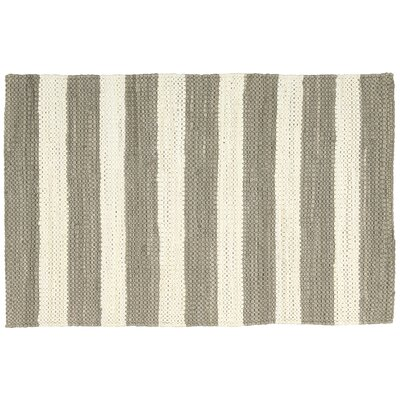 Mayfair Stripe Mocha/Cream Area Rug Rug Size: 2'6 x 4'