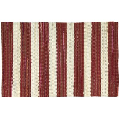 Mayfair Red/White Area Rug Rug Size: 2'6 x 4'
